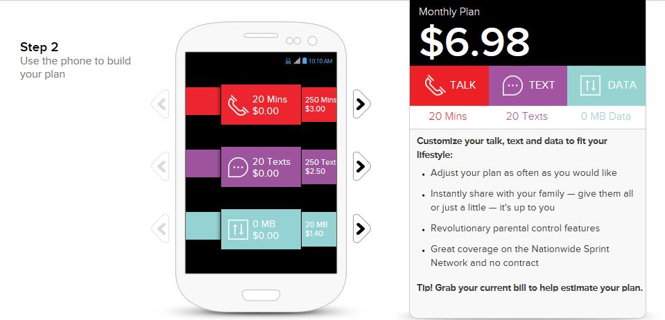 Virgin mobile prepaid service