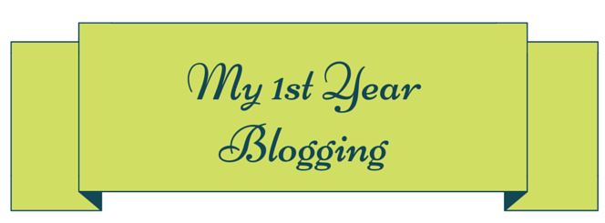 My First Year Blogging