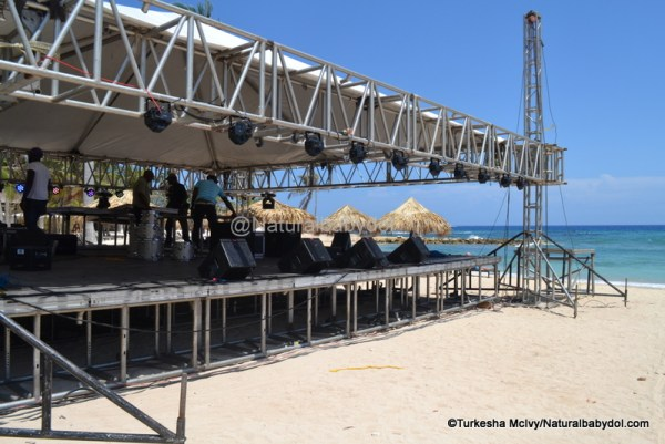 Sound Check In Montego Bay, Jamaica