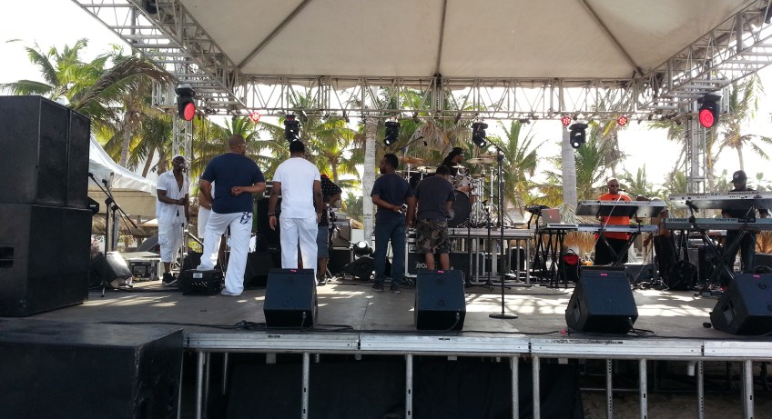 Keith Sweat Sound Check In Montego Bay, Jamaica