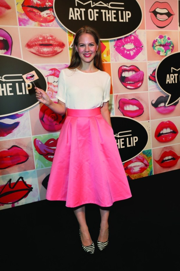 MUNICH, GERMANY - JUNE 24: Alicia von Rittberg during the presentation of 'Art of the Lip' by MAC Cosmetics at Haus der Kunst on June 24, 2015 in Munich, Germany.  (Photo by Gisela Schober/Getty Images)
