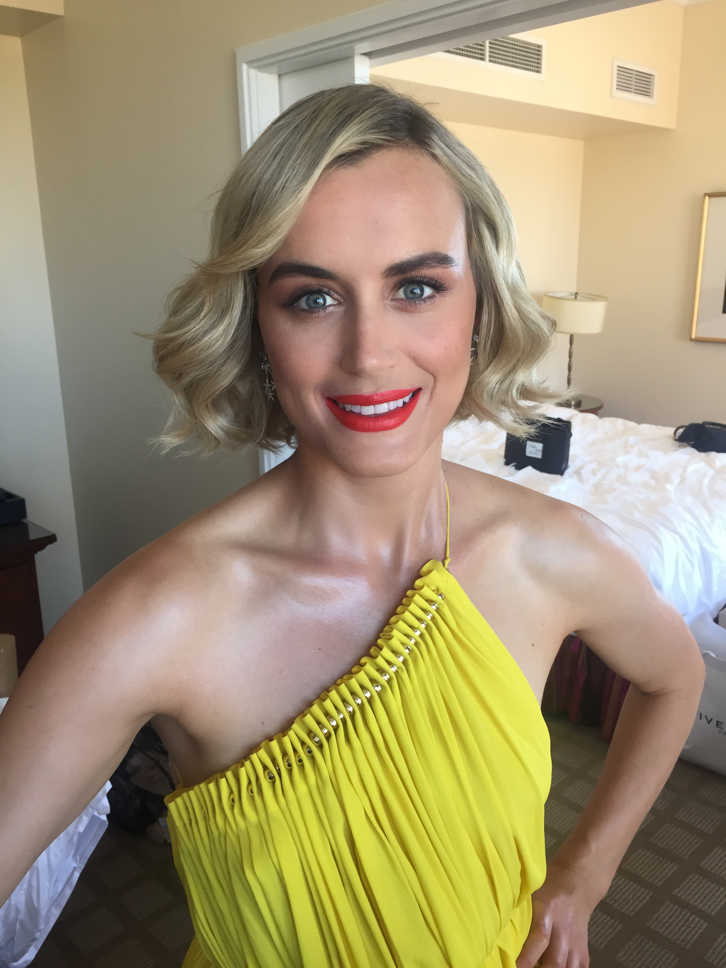 Taylor Schilling At The Emmys With John Frieda Hair Care