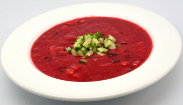 Chilled Raspberry & Cucumber Soup