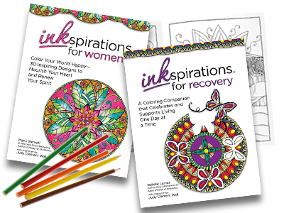 """Inkspirations"" ""Coloring Book"" ""Relaxation"""