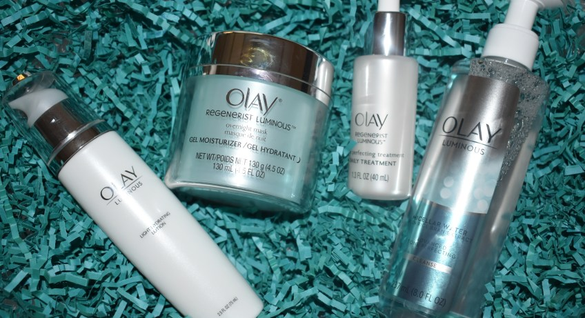 """Olay Luminous Overnight Mask"" ""Olay"" ""Olay 28-Day Challenge"" ""Beauty"" ""African American Beauty Products"" ""Olay Luminous Micellar Water"" ""Oil of Olay Luminous"" ""Olay Luminous Miracle Boost Concentrate"" ""Olay Luminous Light Hydrating Lotion"" ""Beauty Gift Guide"""