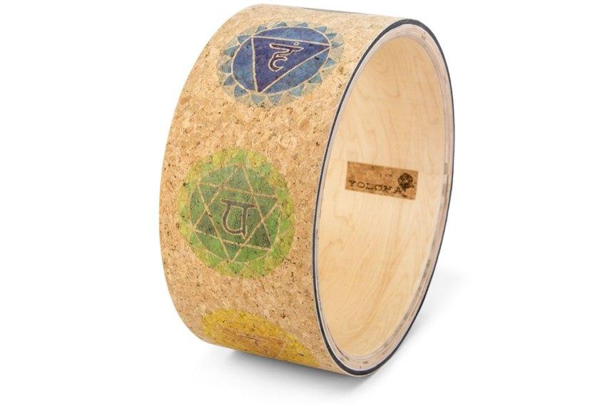 Chakras Cork Yoga Wheel