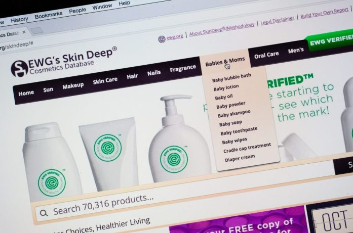 EWG's Skin Deep database