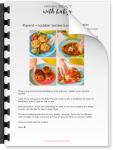 Free winter lunches booklet