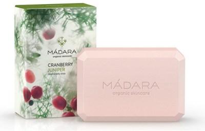 Mádara cranberry and juniper hand and body soap