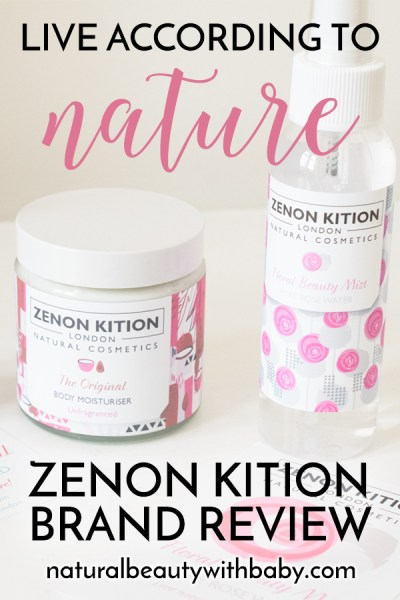 """Live according to nature"" is the adage of natural cosmetic brand Zenon Kition London. Learn more about this gorgeous brand and their clean and natural skincare and hair products in my brand review."