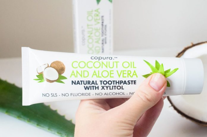 Holding Copura Coconut and Aloe Toothpaste