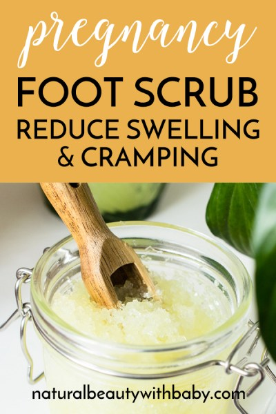 My DIY pregnancy foot scrub will help soften your feet while helping to reduce cramping and swelling in the feet, a common pregnancy side effect.