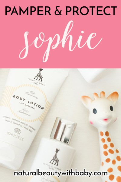 Pamper and protect your baby's skin with Sophie the Giraffe Baby skincare range. This iconic skincare range would make a perfect gift for a new mum.