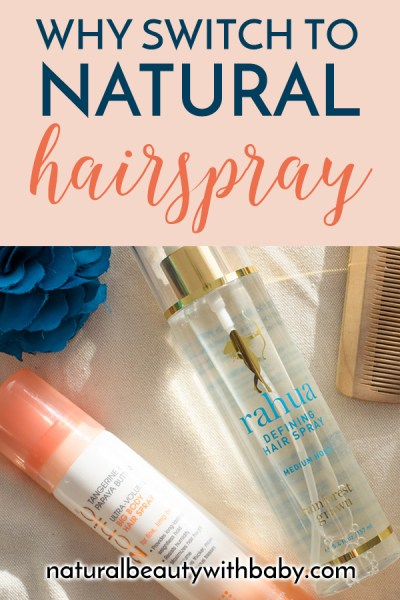 Three of the best natural hairsprays with plant based ingredients reviewed, from luxury to budget. Plus why you should make the switch to natural hairspray. #hairspray #naturalhairspray #naturalhaircare