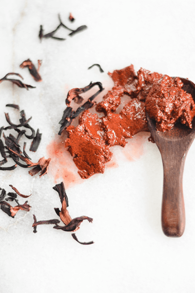 Make Your Own Hibiscus Honey Clay Facial Scrub