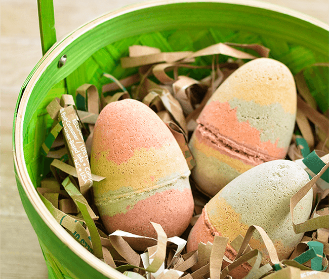 Make Your Own Easter Egg Bath Bombs with Naturally Colorful Cosmetic Clay