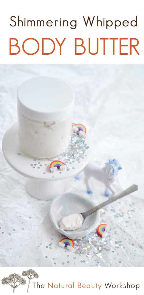How to Make Shimmering Whipped Body Butter (Unicorn Body Butter) - Easy recipe and tutorial