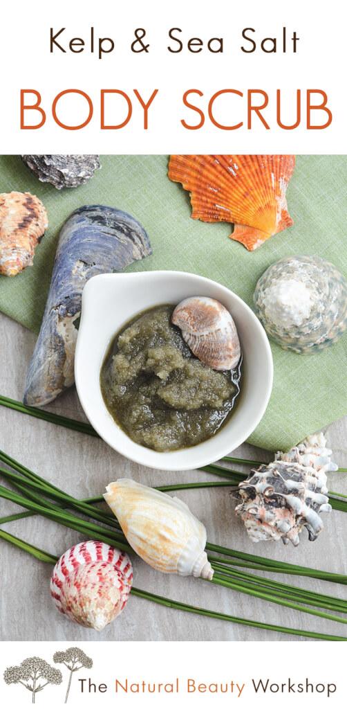 Kelp and Sea Salt Body Scrub - A refreshing salt scrub made with camellia seed oil and kelp powder