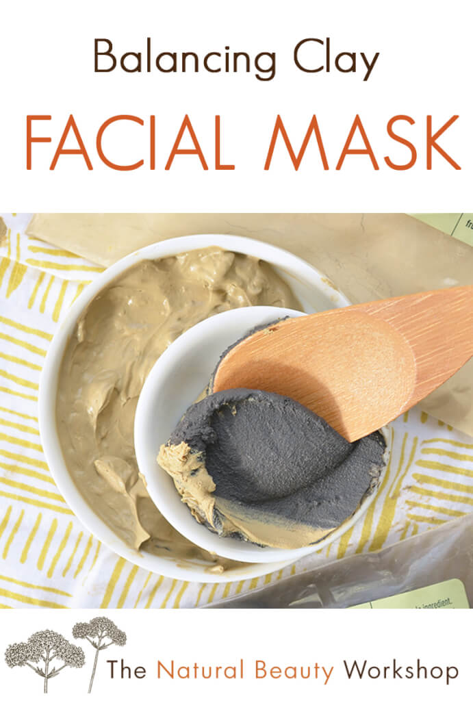 Balancing Clay Facial Mask - a deep-cleansing facial mask made with two kinds of cosmetic clay and a special blend of essential oils to promote glowing skin