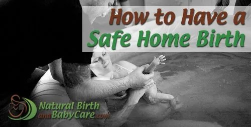 family holding bringing newborn up after safe home birth