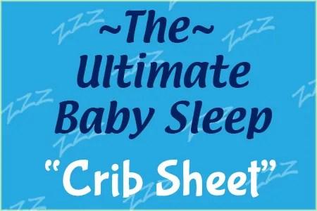 ultimate baby sleep crib sheet
