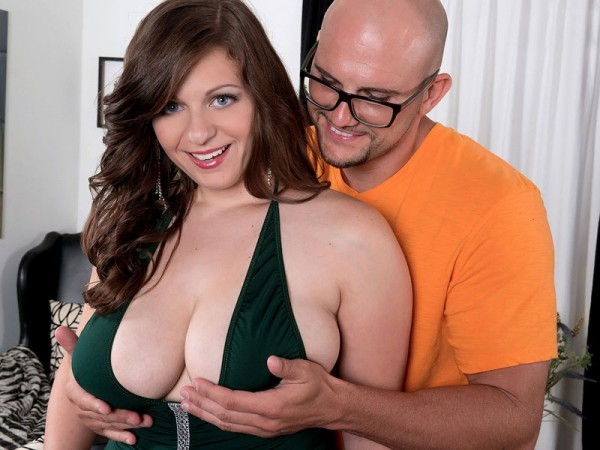 busty brunette jessica roberts smiling