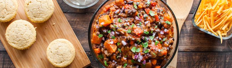 Veggie chili personal chef dinner