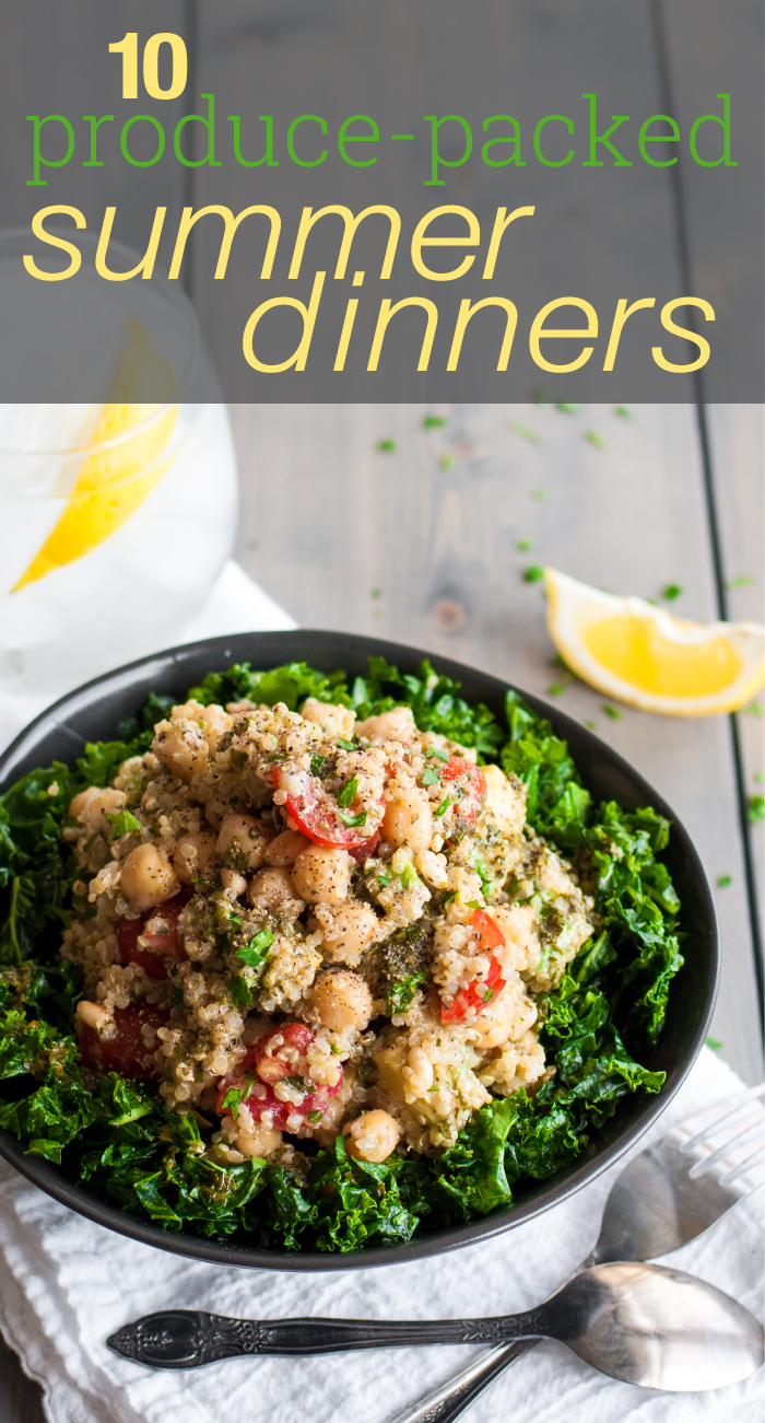 10 tasty, healthy summer dinner recipe ideas (all with gf/meatless option!)