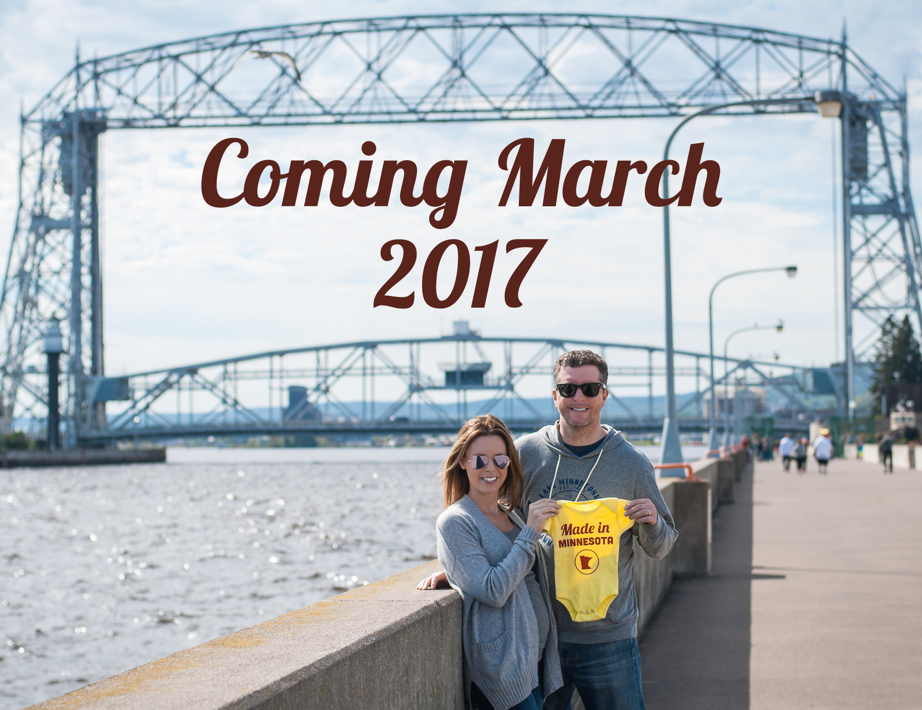 Made in Minnesota baby announcement
