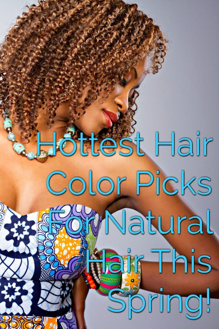 Hottest Hair Color Picks For Natural Hair This Spring! From pinks to blue to vibrant red, ever color in the color wheel can be achieved and without damaging your hair! Check out the differences of temporary hair color.