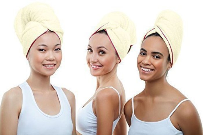 Microfiber Hair Drying Towel, Ultra Lux Extra Absorbent & Large Hair Towel For Curly Hair
