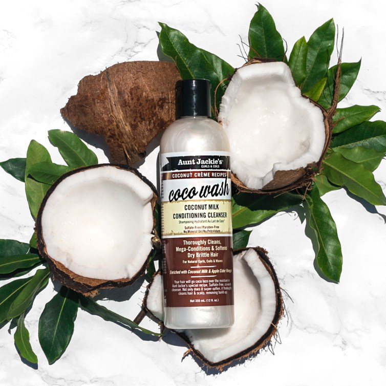 Click here to buy Aunt Jackie's amazing Coconut Milk Conditioning Cleanser will leave your hair clean and free of impurities, while feeling touch-ably softer. Coconut Milk has been used throughout the ages to help hydrate hair and treat dry scalp. Blended with other essential ingredients including Avocado and Shea Butter, Aunt Jackie's Coco Wash is excellent therapy for all hair types and textures,