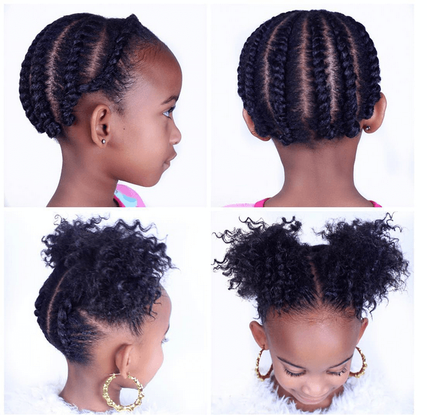 3 Easy Natural Hairstyles For Children