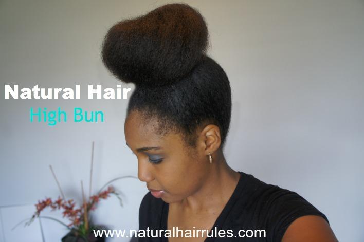 How to Do a Natural Hair High Bun Ninja Bun