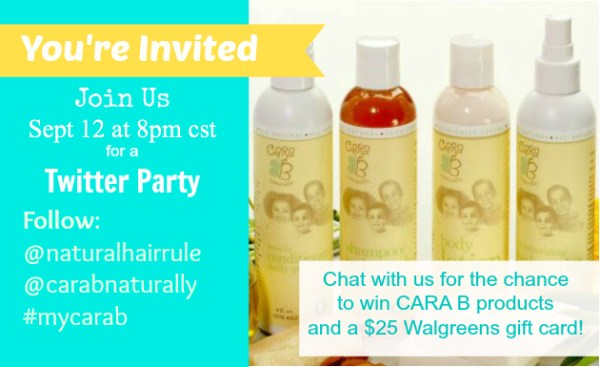 Cara B Naturally Twitter Party and Giveaway