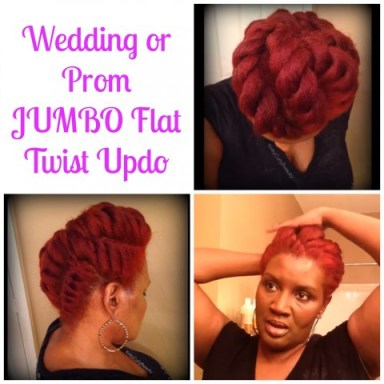 Wedding or Prom JUMBO Flat Twist Updo