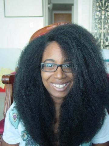 Long 4B-C hair