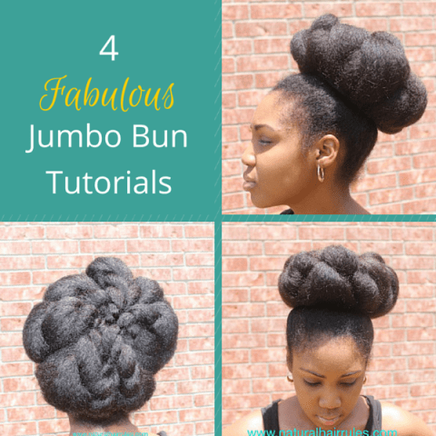 Jumbo bun tutorials