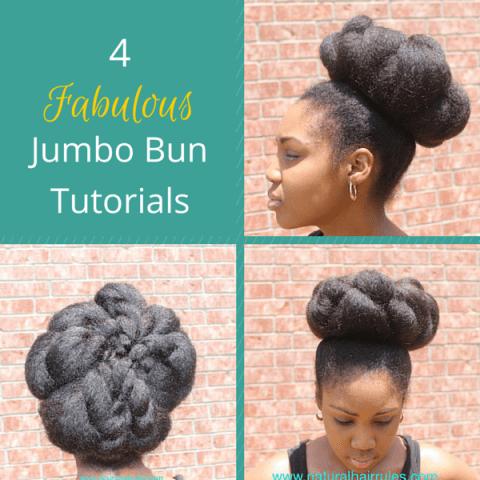 Jumbo bun tutorials