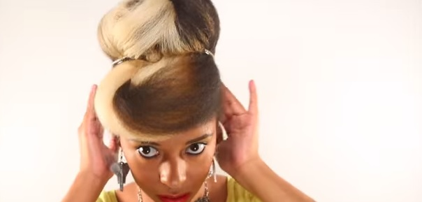 updo with pompadour