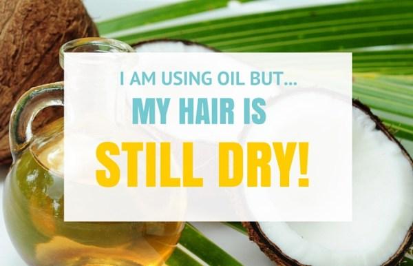 using oil hair dry