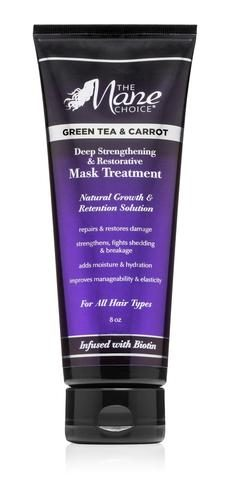 Mane Choice Green Tea & Carrot Deep Strengthening & Restorative Mask Treatment Best Deep Conditioner for Natural Hair