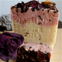 Natural French Jasmine Soap With Crushed Flowers and Rose Oil