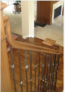 Replace Wooden Baluster With Iron Balusters   Replacing Wood Balusters With Iron   Staircase   Stair Spindles   Stair Parts   Handrail   Stair Railing