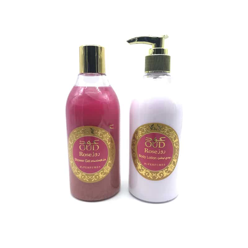 Lotion & Gel Douche Parfumé Oud - Rose 300ml - My Perfumes