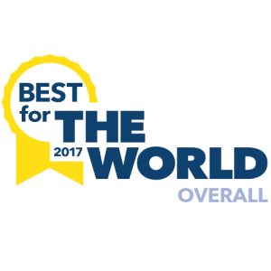 "Certified B Corporation ""Best for the World Award"" 2017"
