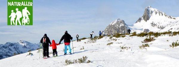 raquetas de nieve fuentes invierno san-isidro