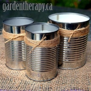 Homemade Citronella Candles