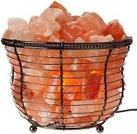 WBM Himalayan Salt Lamp Basket with Salt Chunks