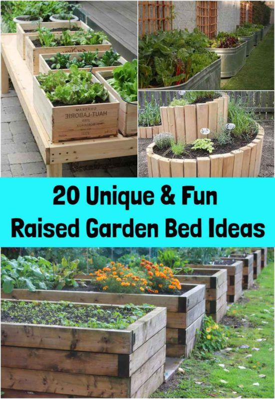 20 Unique & Fun Raised Garden Bed Ideas on Backyard Raised Garden Bed Ideas id=84178
